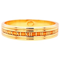 Tiffany & Co. 18k Yellow Gold Atlas Closed Bracelet Bangle Vintage 1995 41.6g