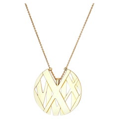Tiffany & Co. 18k Yellow Gold Atlas Large Model Necklace
