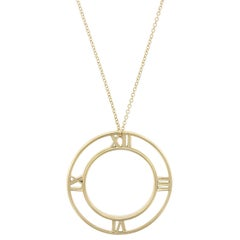 Tiffany & Co. 18 Karat Yellow Gold Atlas Pendant Necklace