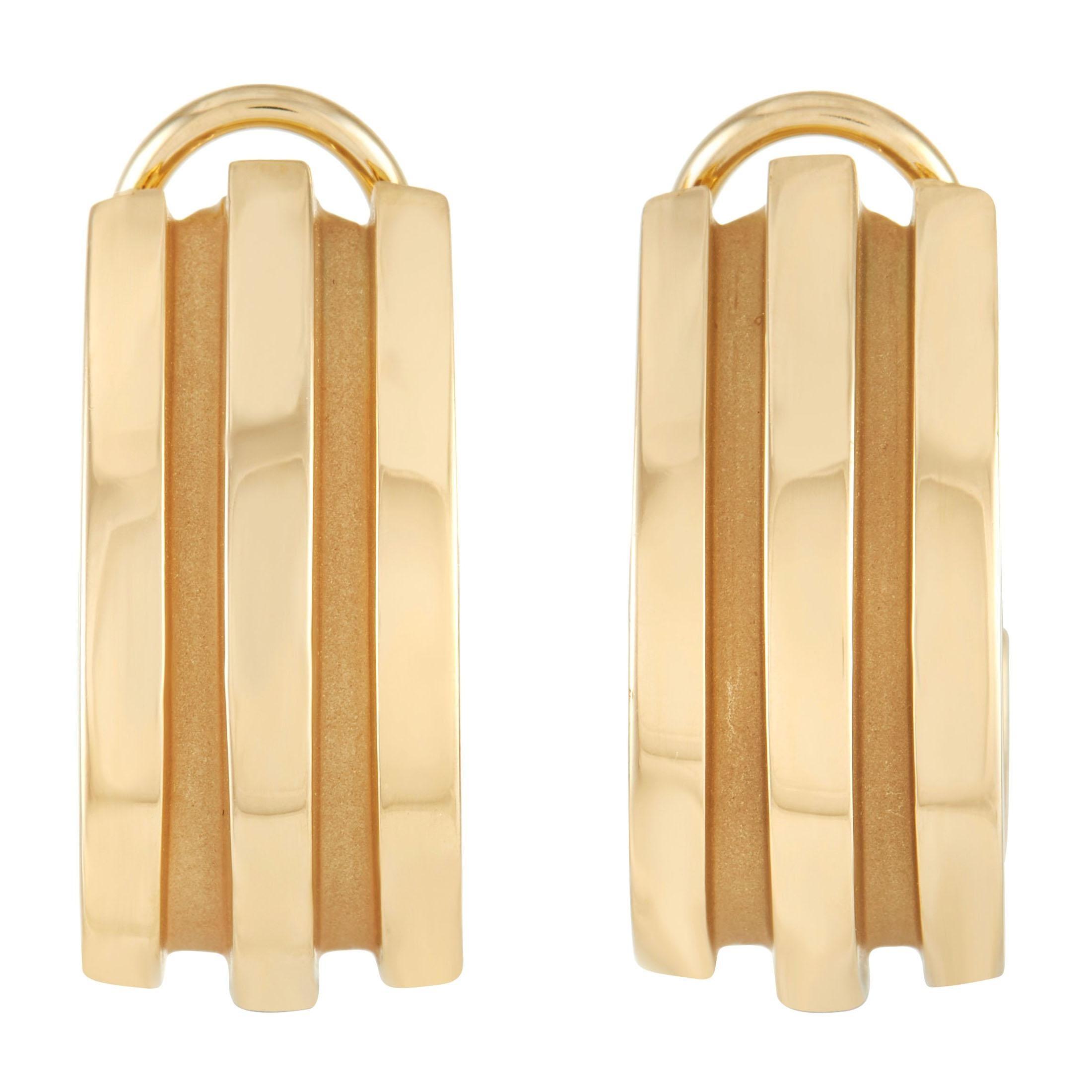 Tiffany & Co. 18K Yellow Gold Bar Clip-On Earrings