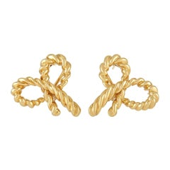 Tiffany & Co. 18k Yellow Gold Bow Earrings