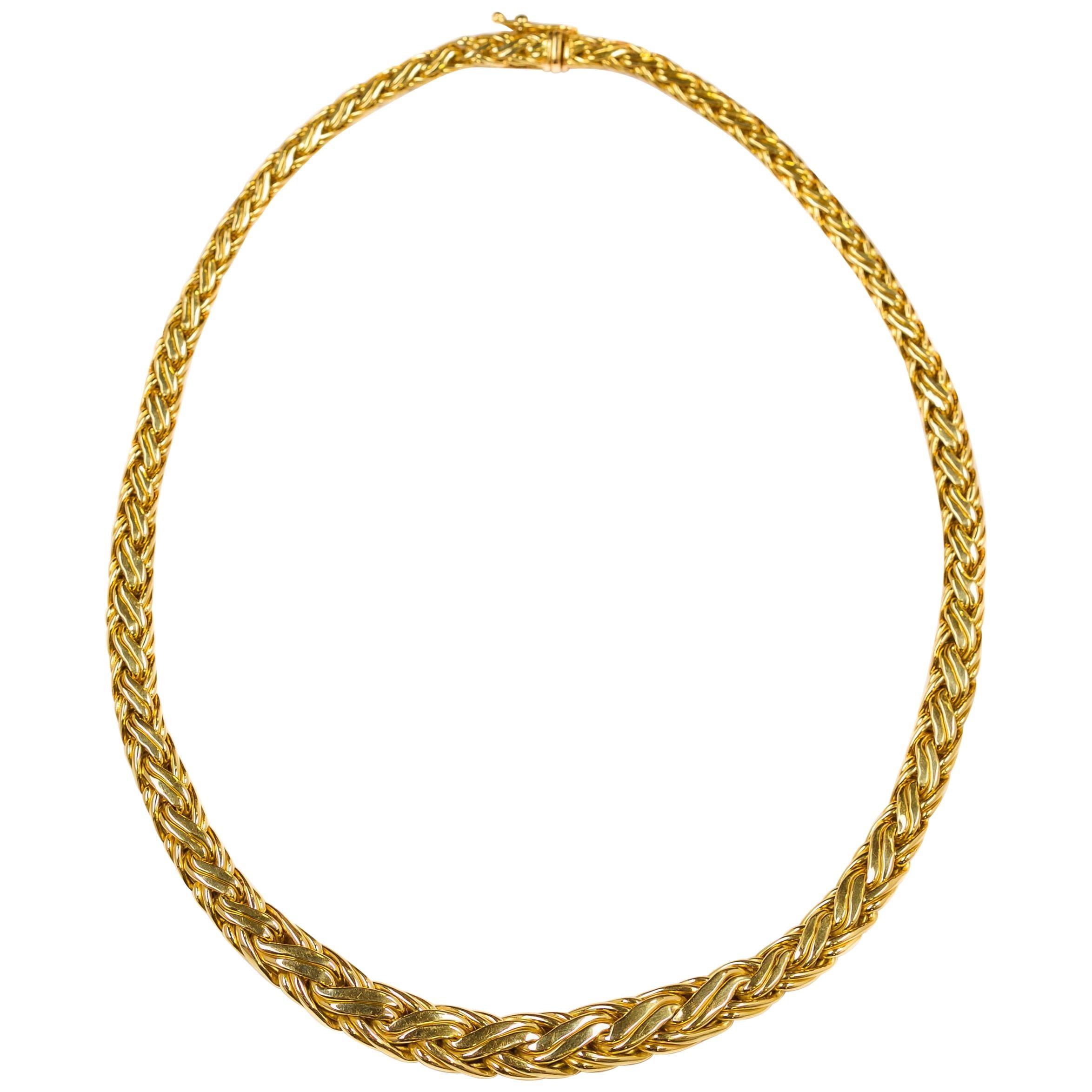 Tiffany & Co. 18k Yellow Gold Byzantine Woven Necklace