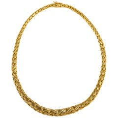 Tiffany & Co. 18k Yellow Gold Byzantine Woven Necklace