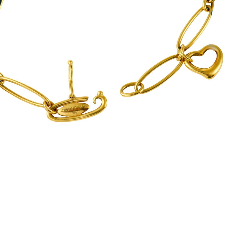 Tiffany & Co. 18 Karat Yellow Gold Charm Bracelet In Excellent Condition In Southampton, PA