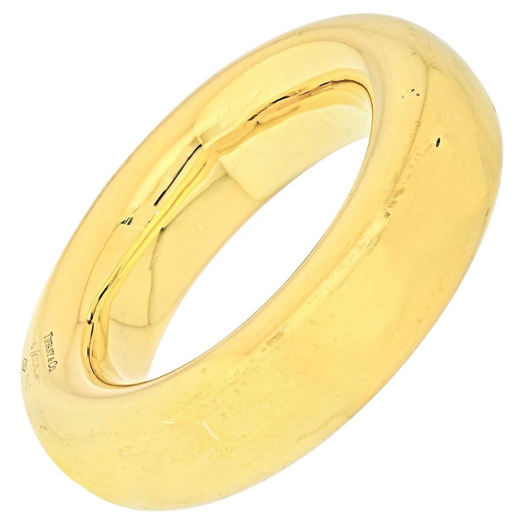 Tiffany & Co. 18K Yellow Gold Donut Bangle Bracelet