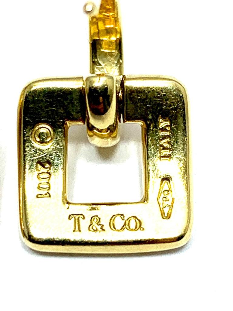 Modern Tiffany & Co. 18 Karat Yellow Gold Door Knocker Earrings For Sale