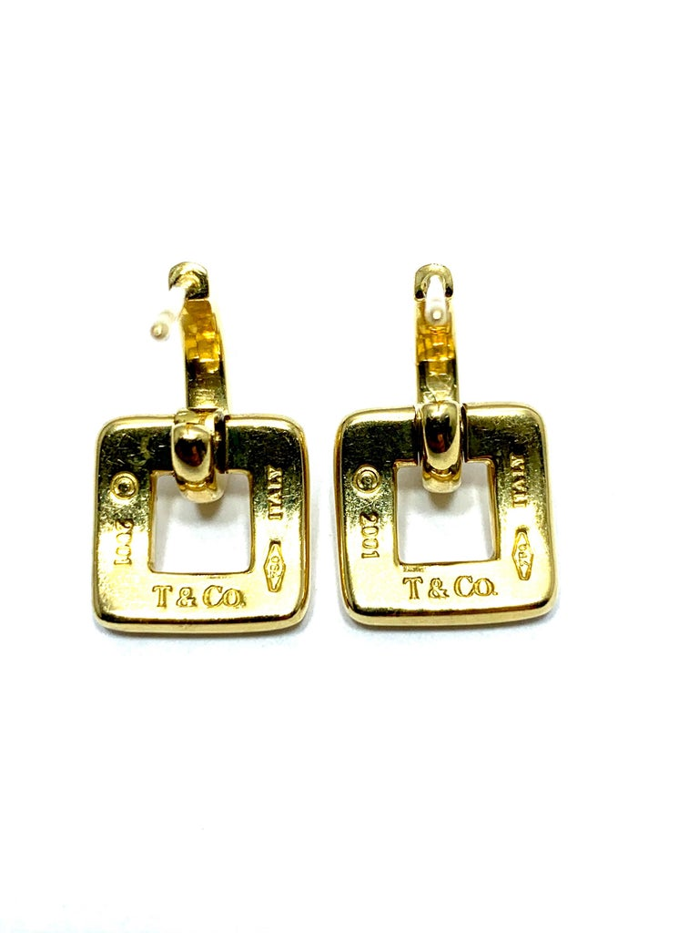 Tiffany & Co. 18 Karat Yellow Gold Door Knocker Earrings In Excellent Condition For Sale In Washington, DC