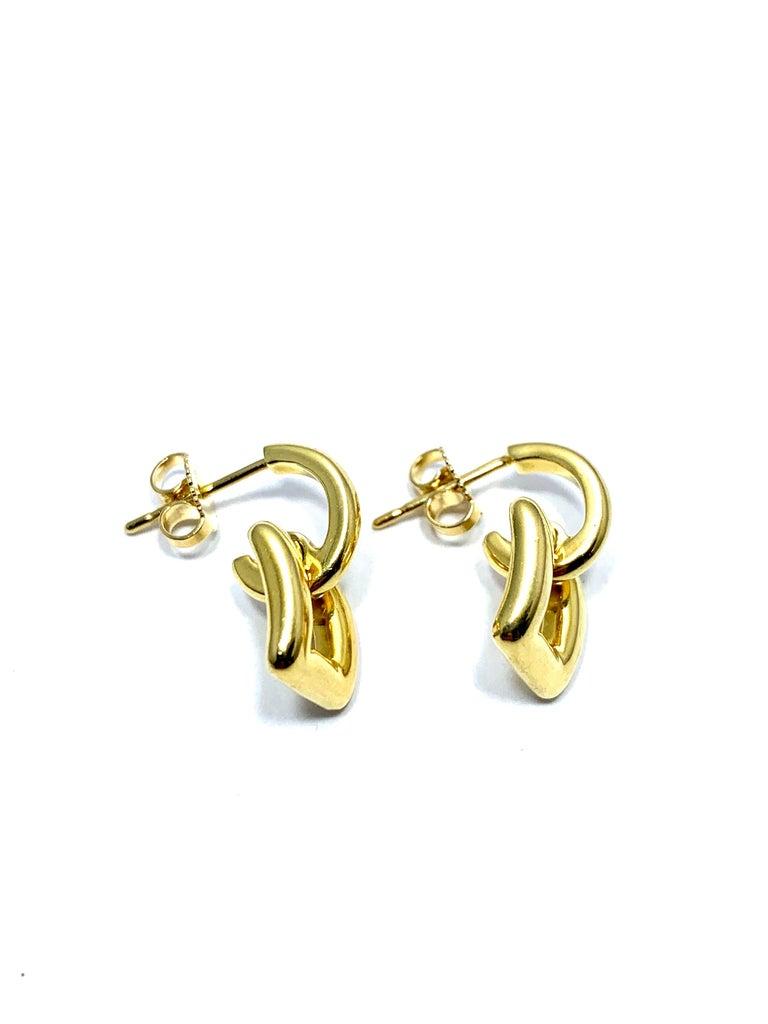 Women's or Men's Tiffany & Co. 18 Karat Yellow Gold Door Knocker Earrings For Sale