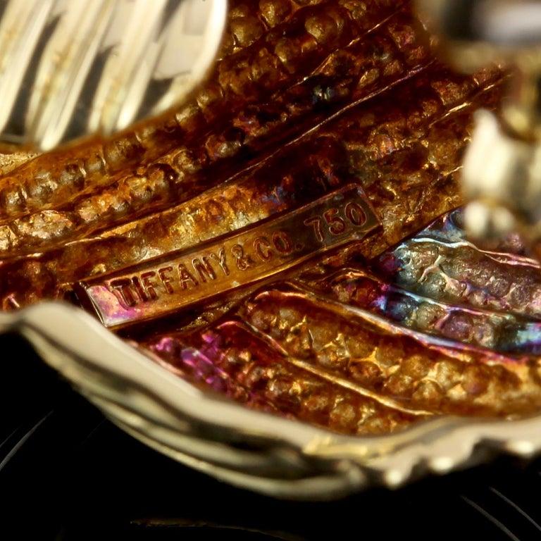 Women's Tiffany & Co. 18 Karat Yellow Gold Earrings For Sale