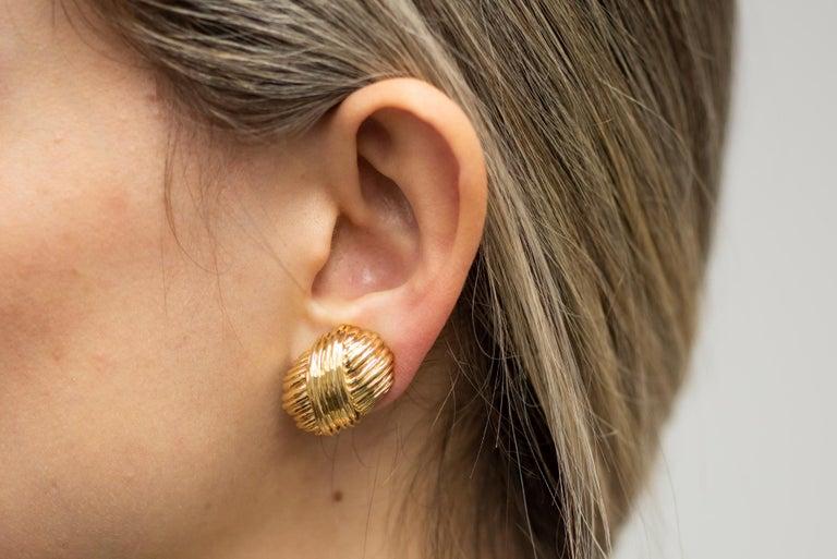 Tiffany & Co. 18 Karat Yellow Gold Earrings For Sale 1