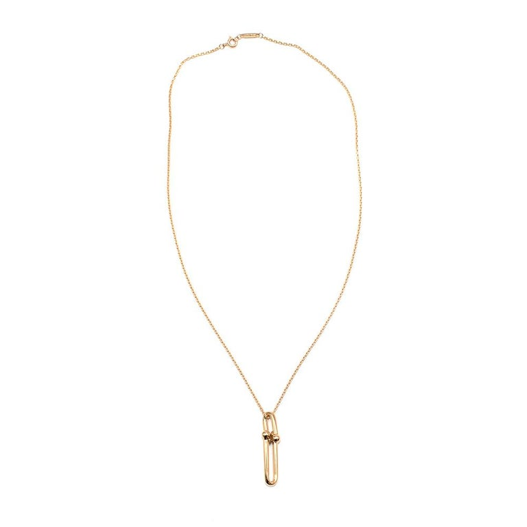 Tiffany & Co 18k Yellow Gold HardWear Link Pendant For Sale 2