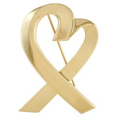 Tiffany & Co. 18K Yellow Gold Heart Brooch