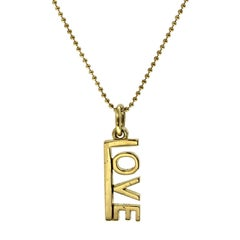 Tiffany & Co. 18 Karat Yellow Gold Love Necklace