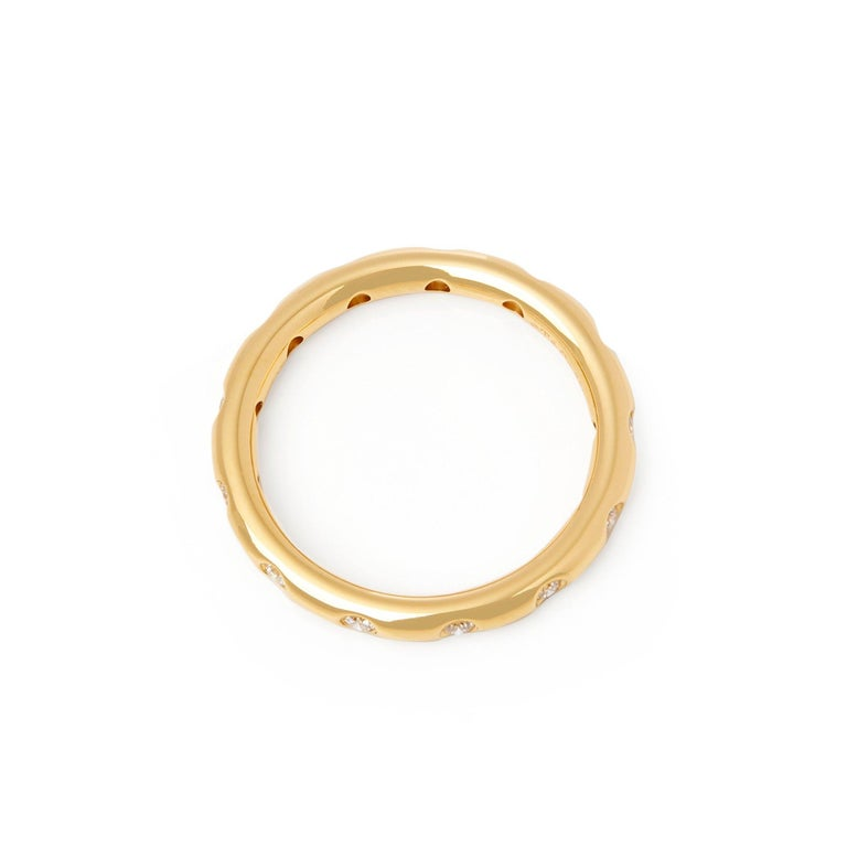 Tiffany & Co. 18 Karat Yellow Gold Round Brilliant Cut Diamond Eternity Ring In Excellent Condition In Bishop's Stortford, Hertfordshire