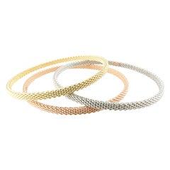 Tiffany & Co. 18k Yellow Gold Somerset Mesh Bangle Bracelet
