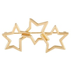 Tiffany & Co. 18K Yellow Gold Star Brooch