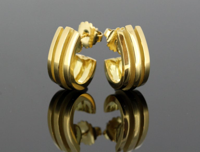 228d5f1f3be2f Tiffany & Co. 18 Karat Yellow Gold Stud Earrings