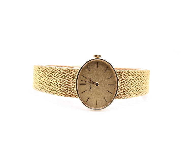 Tiffany & Co. 18 Karat Yellow Gold Vintage Dress Watch Ref. 5042 In Excellent Condition For Sale In Scottsdale, AZ