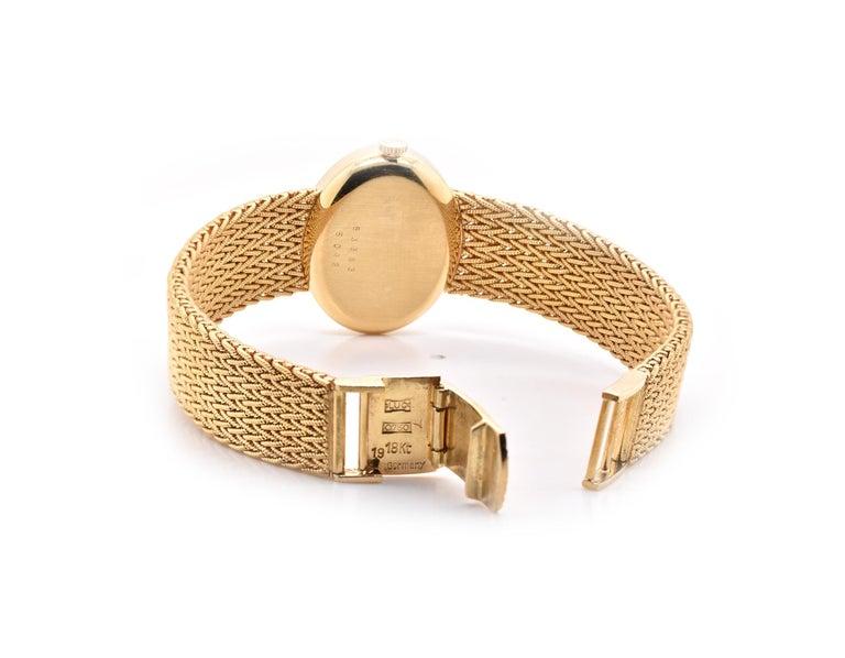 Women's Tiffany & Co. 18 Karat Yellow Gold Vintage Dress Watch Ref. 5042 For Sale
