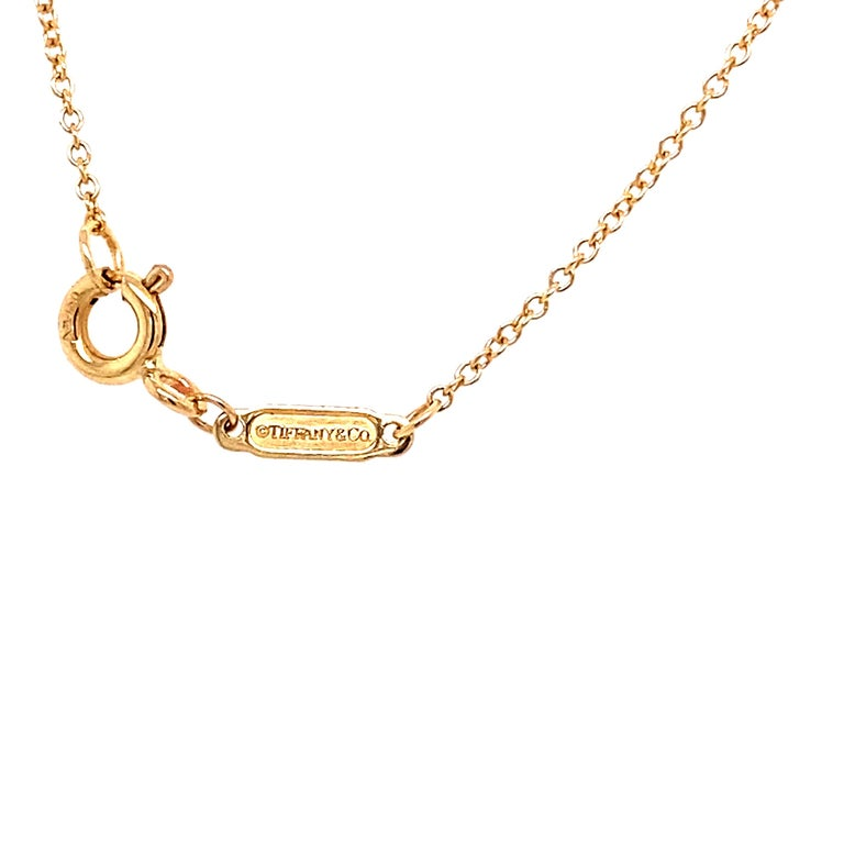 Tiffany & Co. 18K Yellow Gold Wine and Dine Pendant Necklace In Excellent Condition For Sale In Houston, TX
