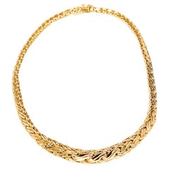 Tiffany & Co 18k Yellow Gold Woven Vintage Necklace