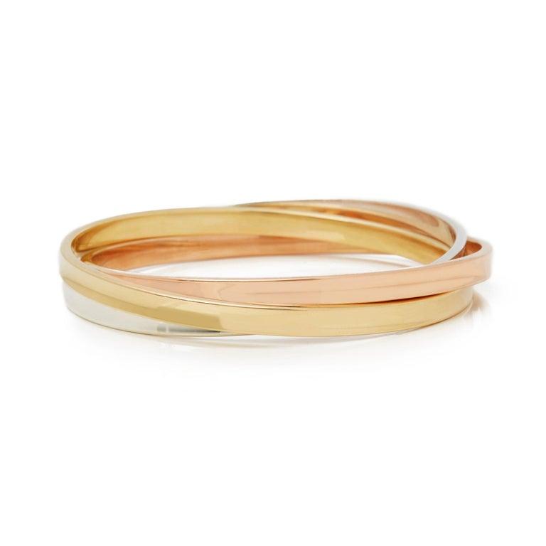 26ee1f3fd Modern Tiffany & Co. 18k Yellow, Rose Gold & Silver 1837 Bangle Bracelet For