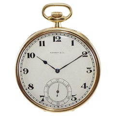 Tiffany & Co. 18Kt. Yellow Gold Art Deco Pocket Watch Hand Made