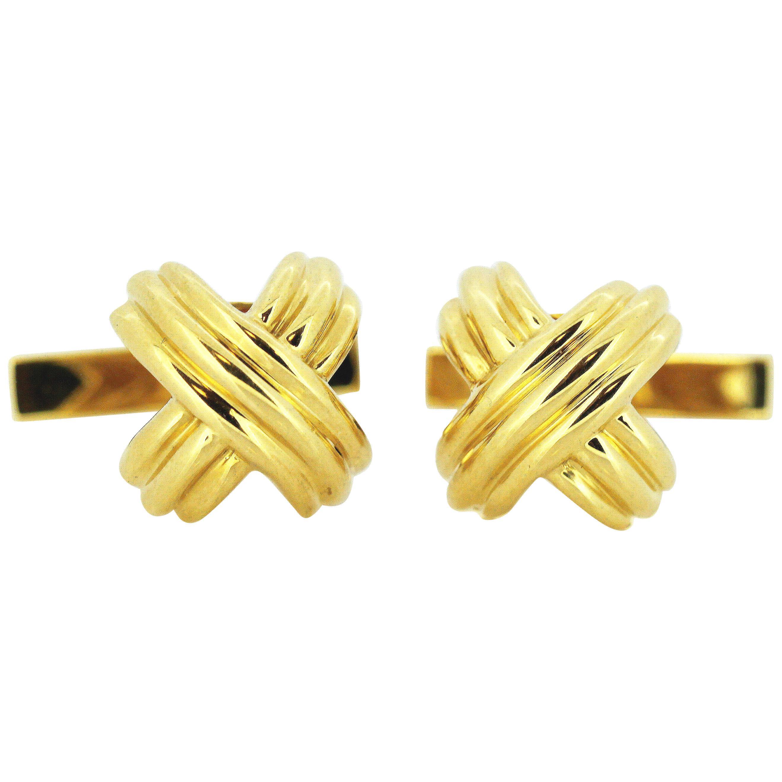 Tiffany & Co 18 Karat Yellow Gold Cufflinks, 1992