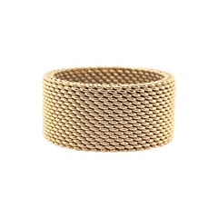 Tiffany & Co 18kt Yellow Gold Somerset Mesh Wide Band Ring