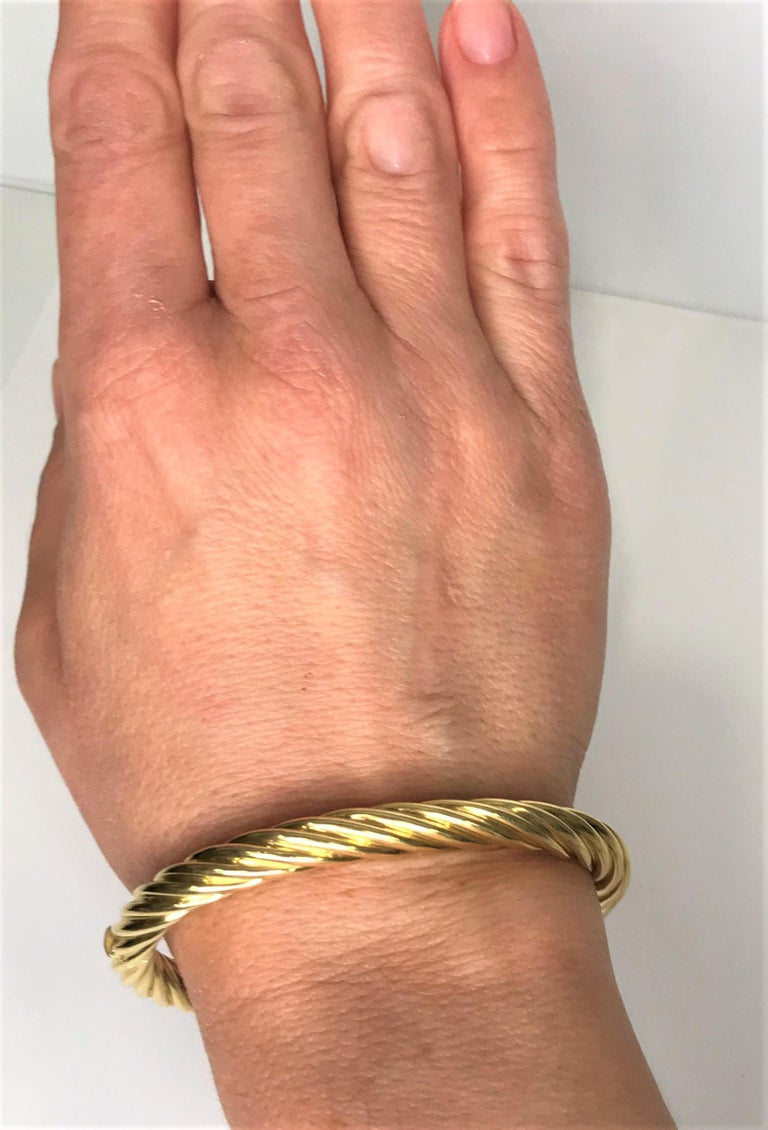 Tiffany & Co. 18ky Twisted Bangle Bracelet For Sale 1