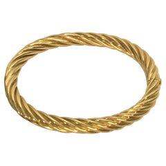 Tiffany & Co. 18ky Twisted Bangle Bracelet