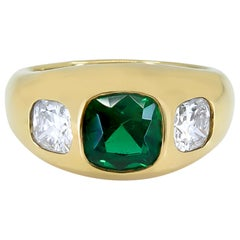 Tiffany & Co. 1.90 Carat Certified Emerald Diamond Ring
