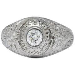 87eb01dc1 Tiffany & Co. 1925 Diamond Platinum West Point Class Unisex Ring