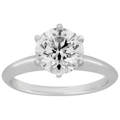Tiffany & Co. 1.93 Carat G VVS1 Diamond Platinum Ring