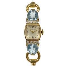 Tiffany & Co. 1940s Yellow Gold and Gem Set Ladies Mechanical Wristwatch