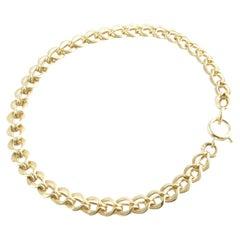 Tiffany & Co. 1960s 14 Karat Yellow Gold Double Link Charm Bracelet