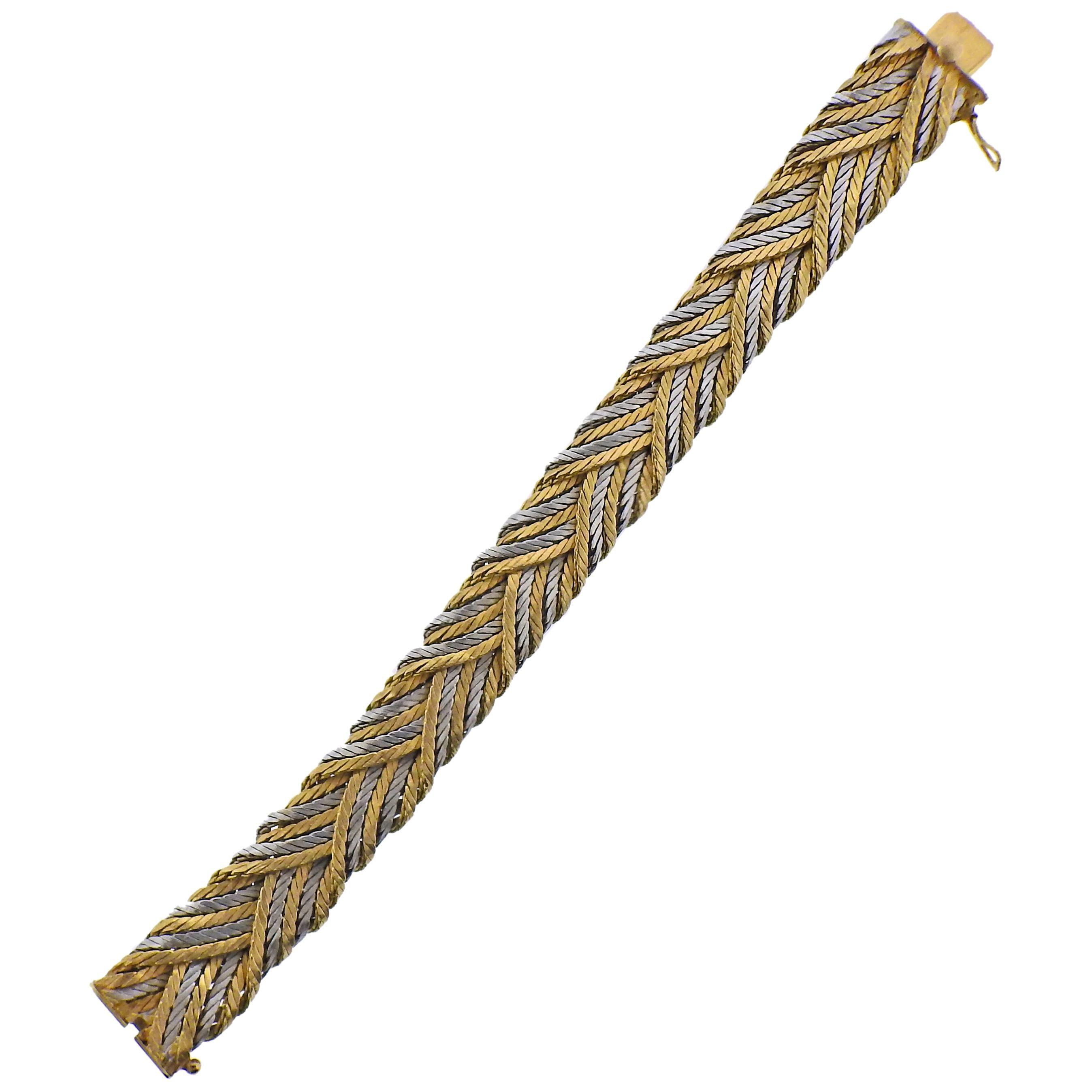 Tiffany & Co 1960s 18 Karat Gold Woven Bracelet