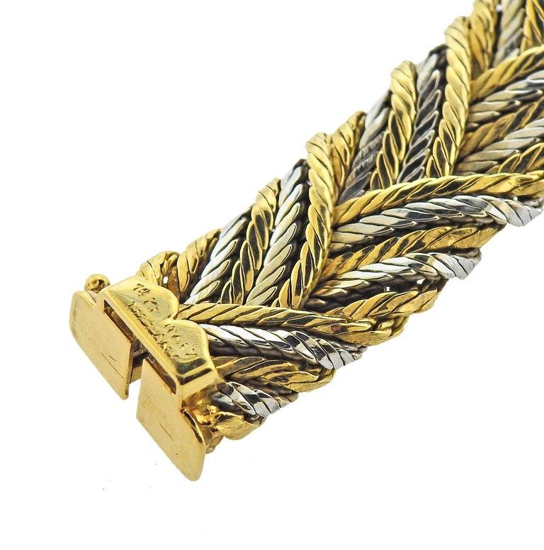 Women's or Men's Tiffany & Co 1960s 18 Karat Gold Woven Bracelet For Sale