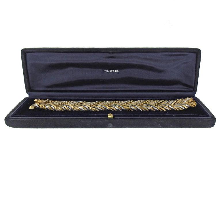 Tiffany & Co 1960s 18 Karat Gold Woven Bracelet For Sale 2