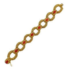Tiffany & Co 1960s Coral Gold Bracelet