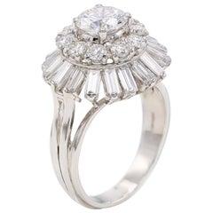 Tiffany & Co 1960s Diamond Platinum Ballerina Ring