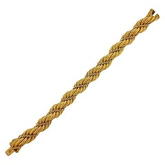 Tiffany & Co. 1960s Gold Twist Bracelet