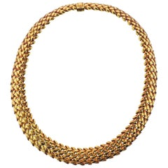 Tiffany & Co. 1960s Woven Gold Necklace