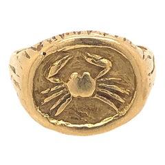 Tiffany & Co. 1970s Gold Zodiac Ring