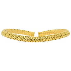 Tiffany & Co. 1997 18 Karat Gold Flexible Collar Necklace