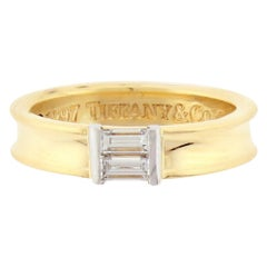 Tiffany & Co. 1997 Baguette Diamond Gold Band Ring
