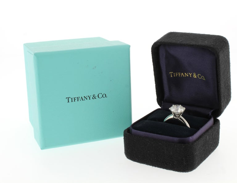 Tiffany & Co. 2 Carat Diamond Solitaire Ring In Excellent Condition For Sale In Bethesda, MD
