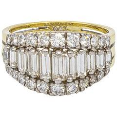 Tiffany & Co. 2 Carat Diamonds Ring 18 Karat Gold