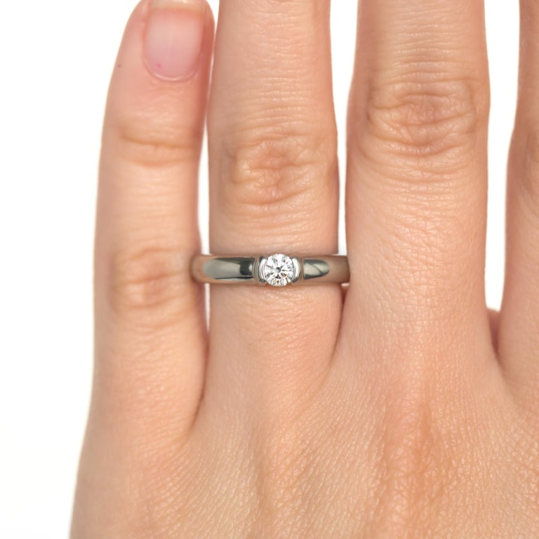 Tiffany & Co. .20 Carat Platinum Engagement Ring For Sale 3