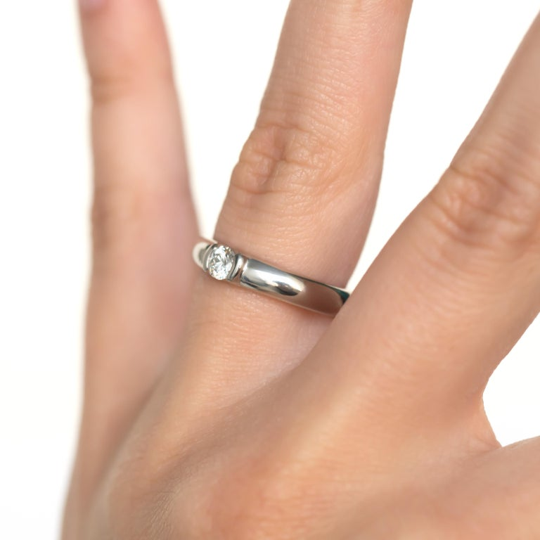 Tiffany & Co. .20 Carat Platinum Engagement Ring For Sale 4